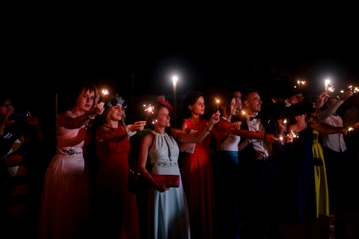 Bengalas invitadas boda