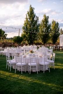 Banquete rústico boda